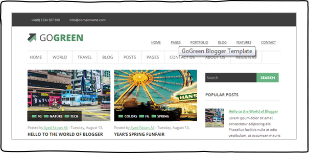Go Green (Blogger)