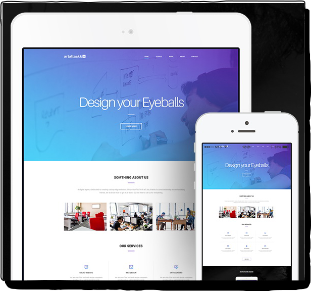 Agency website Free Landing Page