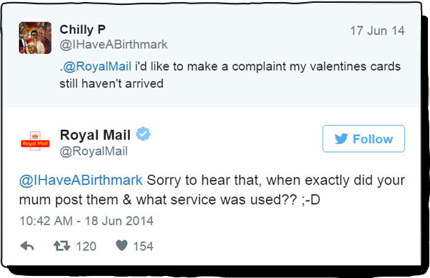 Royal Mail's Twitter
