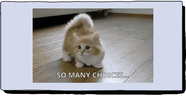 to chose from