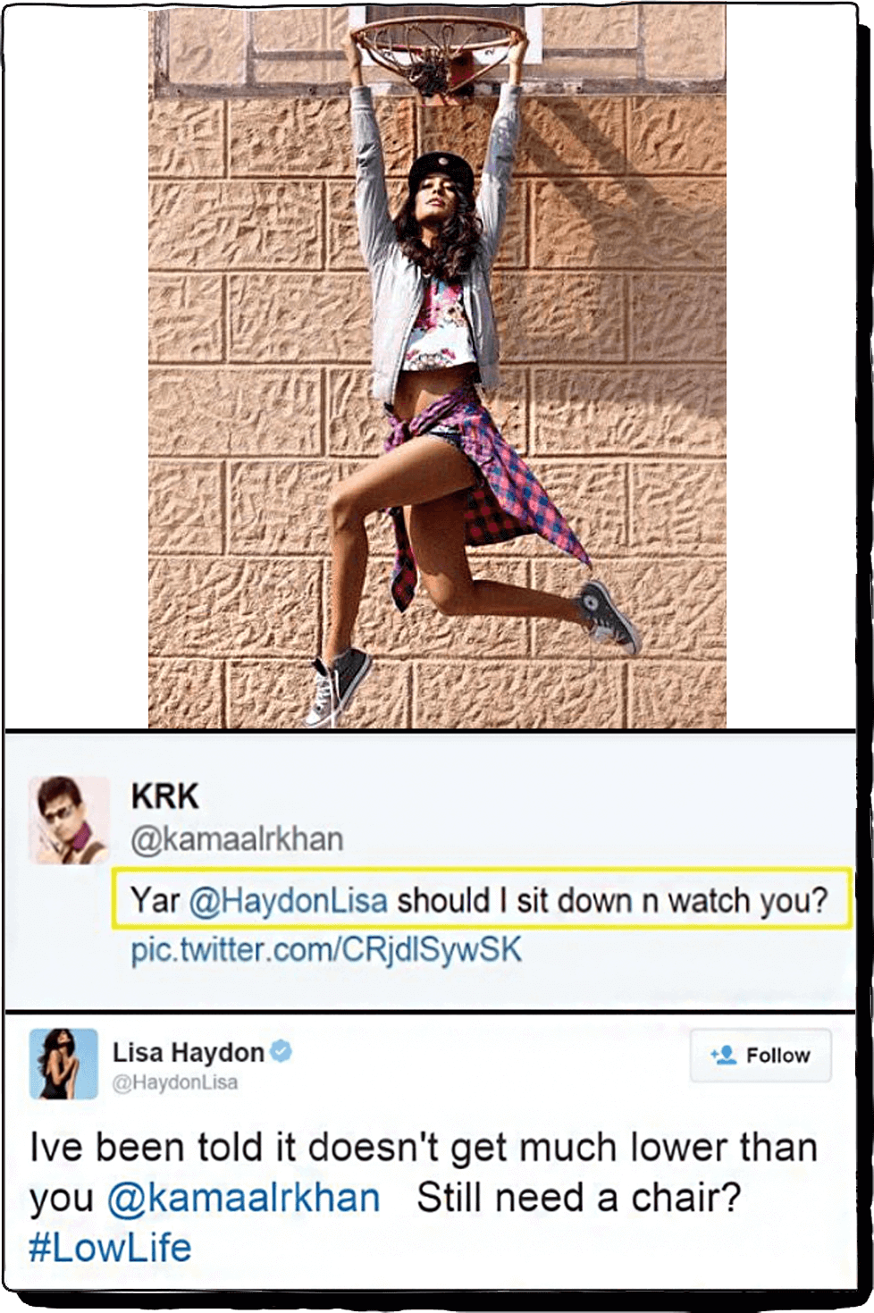 When KRK took a dig at Lisa Haydon