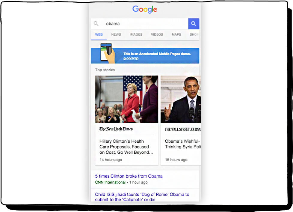 Obama Search in Google
