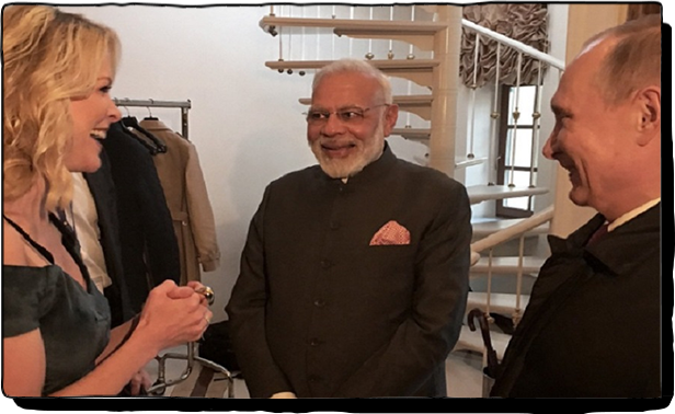 Megyn Kelly meeting with Narendera Modi