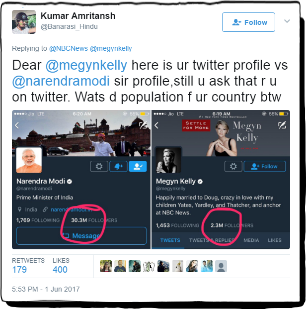 megynkelly tweet to narendermodi