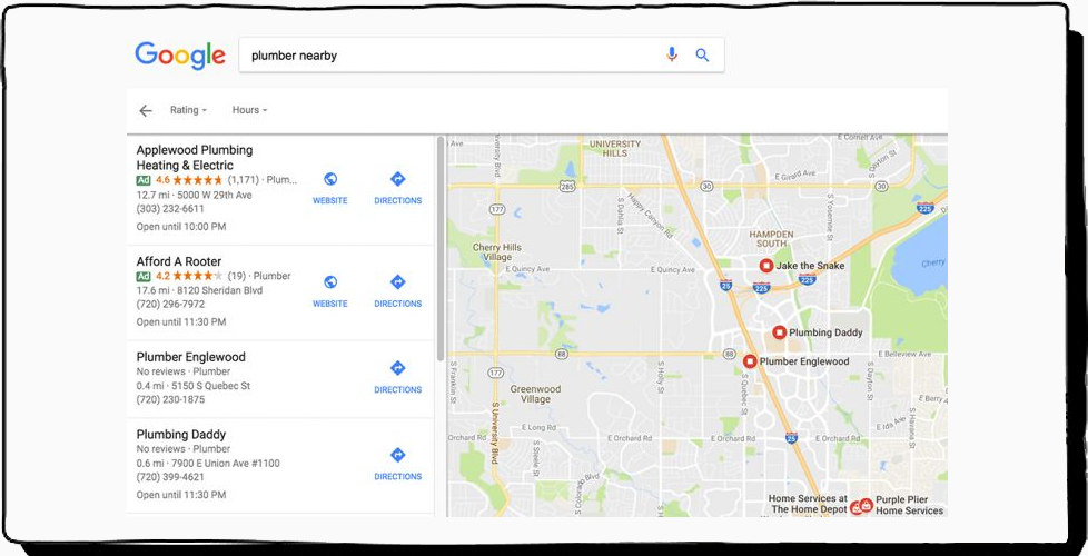 local search in google