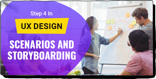 STEP 4 IN UX DESIGN: SCENARIOS AND STORYBOARDING